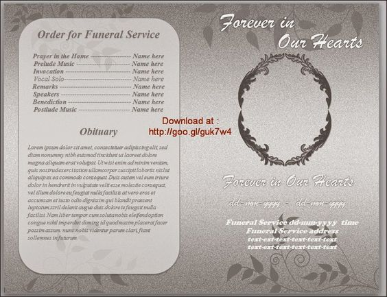 funeral brochure template word - pinterest the world s catalog of ideas