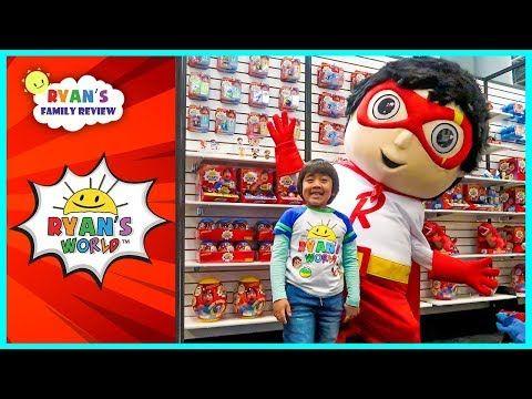 Ryan Meet Giant Red Titan And See Ryan S World New Toys Youtube Minion Toy Ryan Toys Power Rangers Toys