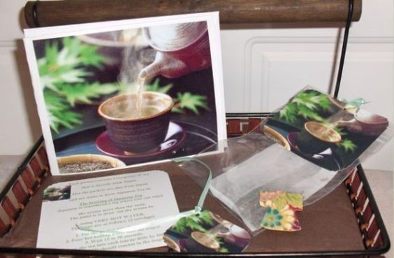 JAPANESE Tea and CARD Set Under 5 Dollars by SouthamptonCreations, $4.99