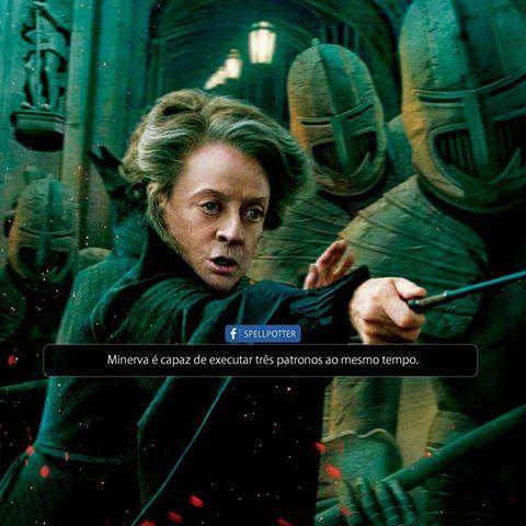 No último livro ela executa três patronos, que no caso dela são gatos, e os manda cada um para o escritório de um dos diretores das casas (Sprout, Filio e Horácio) para acorda-los e ajuda-la na proteção do castelo contra Voldemort.