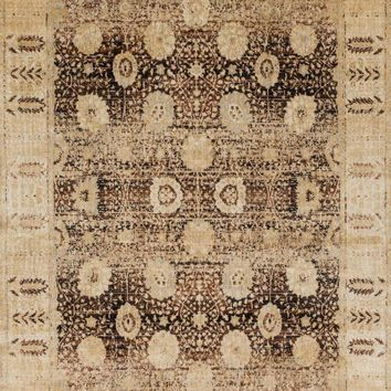 Anastasia Coffee / Gold 7Ft 10In X 7Ft 10In Round Rug