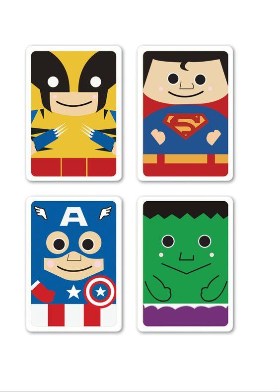 Super Heroes Poker Card by Vonny Taniwijaya, via Behance
