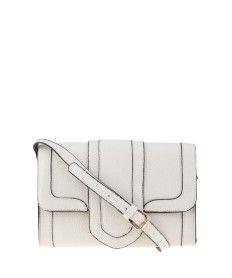 (C&A) - Bolsa Transversal Com Recorte Off White - R$89,99
