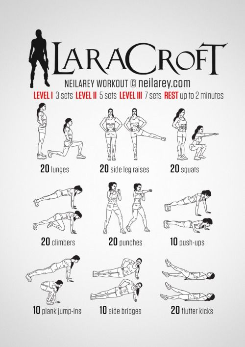 Lara Croft Workout