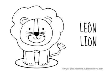dibujo de león infantil para colorear ideas Pinterest