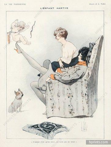 Louis Vallet 1919 French Bulldog, Cherub Angel