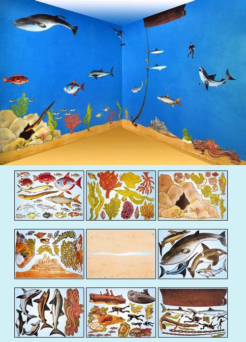 1000 Images About Children S Bedroom Ideas On Pinterest: Under The Sea, Wall Murals And Murals On Pinterest