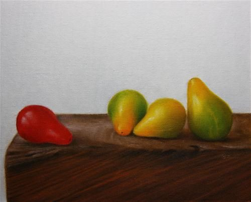 """Daily Paintworks - """"Mixed Tomatoes"""" by Jonathan Aller"""