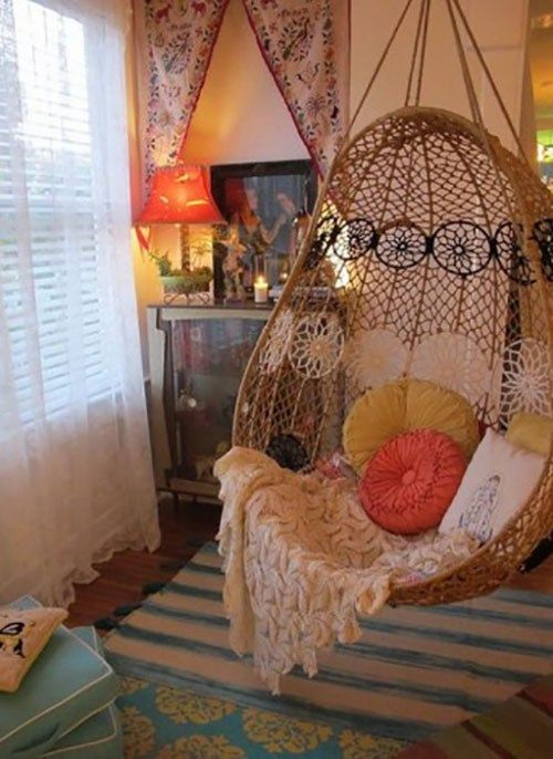 The Reading Chair Implies More Than Just A Chair To Kick Back Want To Find A Comfy And Also Great Analysis Chair Hanging Chair Hippie House Hippie Home Decor