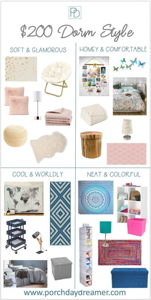Decorating A Dorm Room For 200 Or Less Dorm Room Styles College Dorm Room Decor Dorm Style