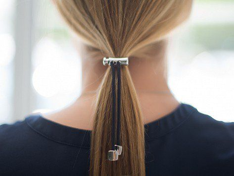 Pulleez | Sliding Ponytail Holder - cute idea but not for $16! I probably have all the stuff to DIY something more colorful for Miss Sunshine's tastes