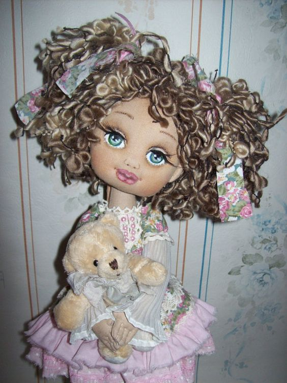 Gerda  textile doll by TrixiCreation on Etsy:
