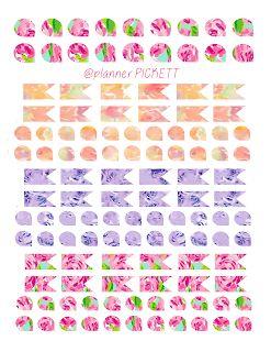 @planner.PICKETT: Pretty Flags and Teardrops Free Sticker Freebie