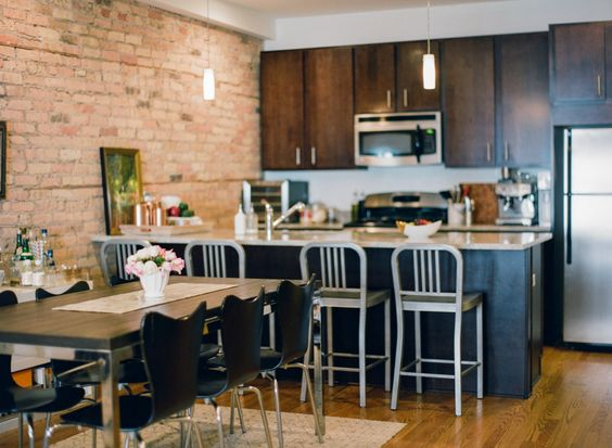 Small and open kitchen!  Read More: http://www.stylemepretty.com/living/2014/04/14/behind-the-blog-with-jess-lively/