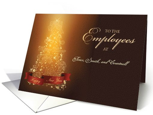 Employees custom business thank you at christmas card business employees custom business thank you at christmas card beautiful and elegant card to customize with your business name to give your employees this holiday m4hsunfo