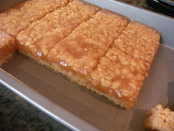 Salted Caramel Rice Krispie Treats...WOW!