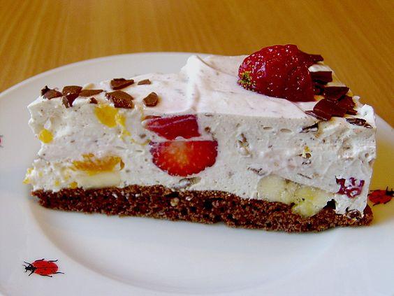 Beste Rezeptesammlung: Fruchtige Joghurt - Küsschen - Torte