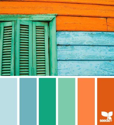 Blue White Green Orange