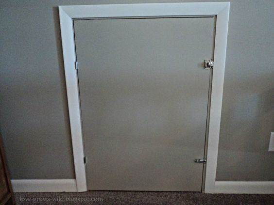 boys attic bedroom ideas - DIY Knee Wall Access Door