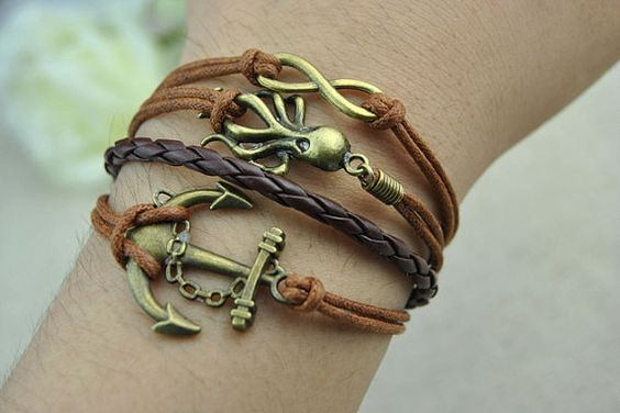 Antiques bronze and leather made of cuff by BraceletStreet on Etsy, $5.50