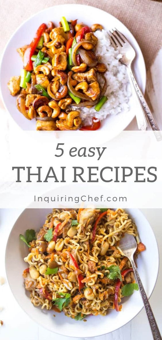 Five Easy Thai Recipes {No special ingredients} | Inquiring Chef