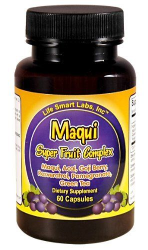 Maqui Super Fruit Complex, Antioxidant Maqui Berries, Resveratrol, Goji Berry, Pomegranate, Acai, Green Tea by Maqui Super Fruit Complex. Save 86 Off!. $7.00. Maqui Super Fruit Complex is carefully formulated from a rich variety of high ORAC fruits and green tea to provide a strong source of antioxidants.  This Maqui formula provides antioxidants .  Some users will noticed some increased energy however,  the main focus of the formula is to help strengthen the immune system.  Maqui Super...