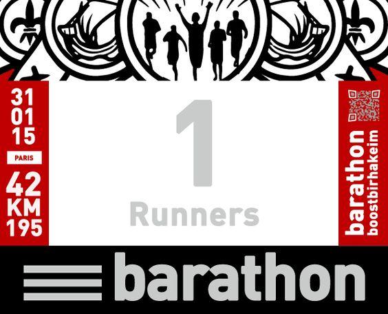 #barathon - Dossard Runners #boostbirhakeim - @bbirhakeim