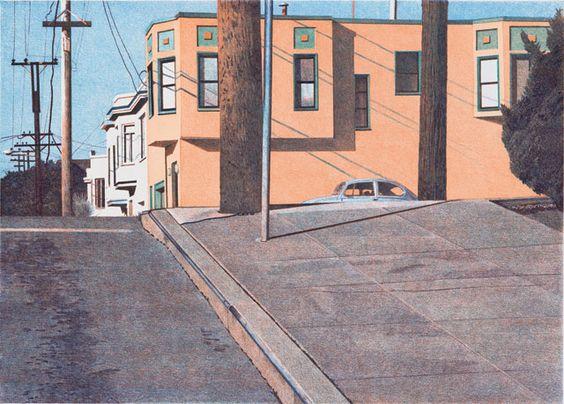 Mississippi Street Intersection, 2007  © Robert Bechtle & Crown Point Press