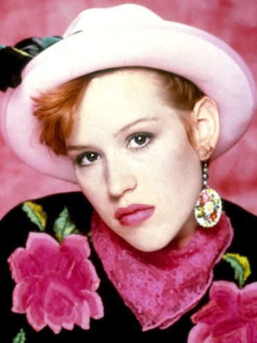Molly Ringwald...she was the springboard for my love of mismatched earrings and funky hats.