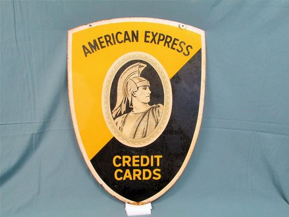 Vintage 1950s American Express Trade Sign Tin Litho Store display 2-Sided Wow!   eBay