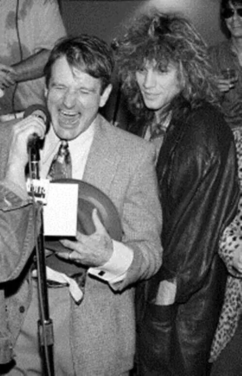 Jon Robin Williams Robin Williams Jon Bon Jovi Bon Jovi Select from premium valerie velardi of the highest quality. pinterest
