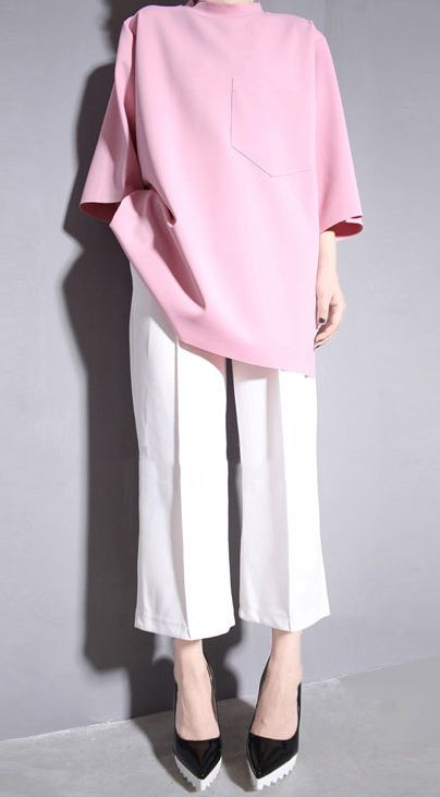 Basic oversized cotton blend T-shirt