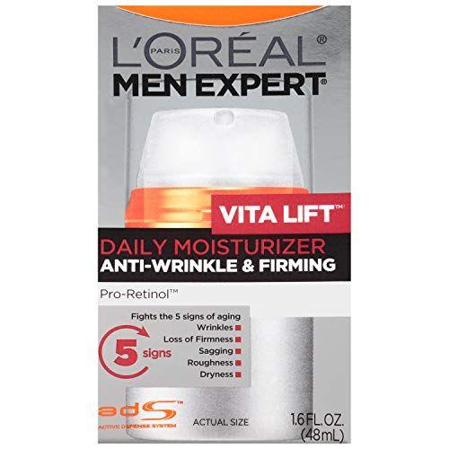 L Oreal Paris Skincare Men Expert Vitalift Anti Wrinkle Firming Face Moisturizer With Pro Retinol 1 6 Fl Oz Face Moisturizer Anti Wrinkle Moisturizer Retinol
