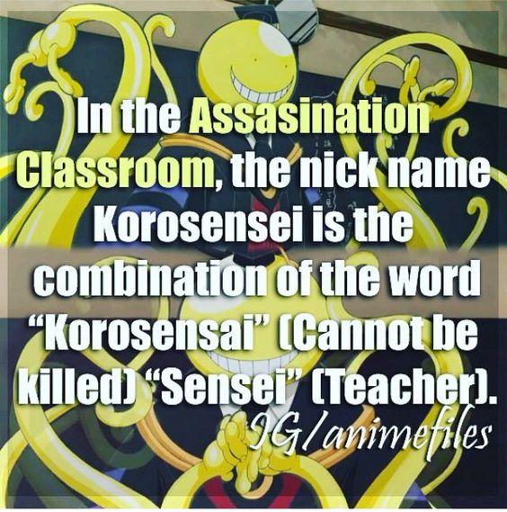 Anime Facts - Ansatsu Kyoushitsu {Assassination Classroom}