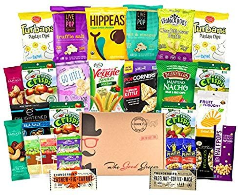 Amazon Com Gluten Free And Vegan Healthy Snacks Care Package 28 Ct Plant Based Snacks Bars Chips Healthy Vegan Snacks Plant Based Snacks Healthy Snacks