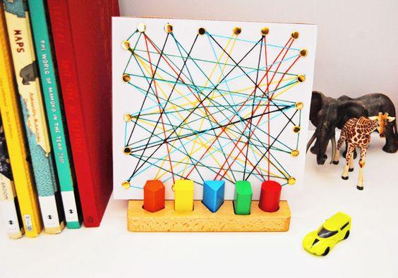 hello, Wonderful - SIMPLE KID-MADE CARDBOARD STRING ART