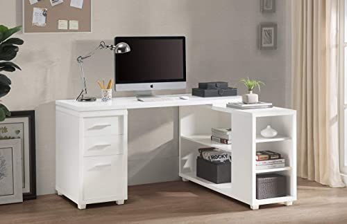 Shop For 2l Lifestyle Fairbank L Shaped Executive Desk White Finish Large Online Goodlucktou In 2020 White L Shaped Desk L Shaped Executive Desk Desk With Drawers