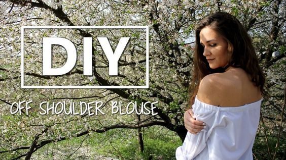 DIY | bluzka z odkrytymi ramionami. off shoulder blouse + LOOKBOOK