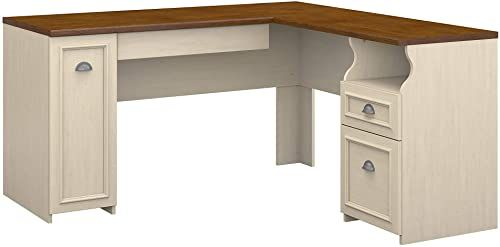 Beautiful Bush Furniture Fairview L Shaped Desk In Antique White Furniture 382 45 Lovetopfashion From Top Store In 2020