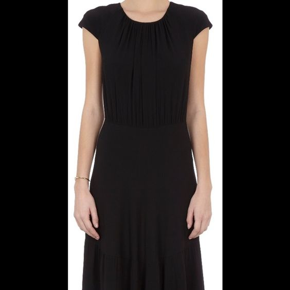 L'agence black crepe maxi dress Chic French label L'Agence black maxi dress in rich crepe fabric.  Perfect for an elegant night on the town.  Back zipper.  Long- may need hemming L'AGENCE Dresses Maxi