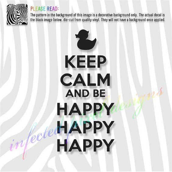 Duck Dynasty HAPPY HAPPY HAPPY Decal   Your by InfectedPixel, $8.00