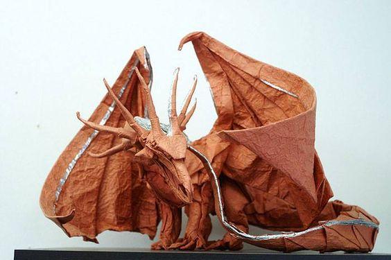 Origami: piccole opere d'arte di carta per le vostre nozze_drago