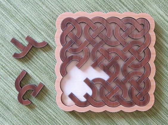 Celtic Knot Solid Wood Puzzle