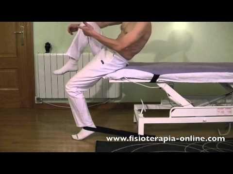 Estiramiento del músculo psoas iliaco.