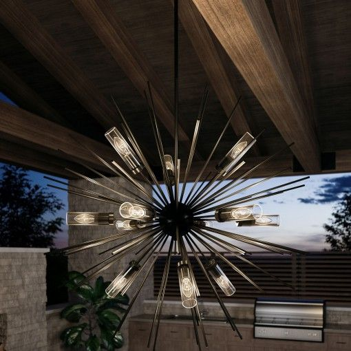 Hilo 12 Light Outdoor Chandelier By Feiss In 2020 Outdoor Lighting Outdoor Chandelier Outdoor