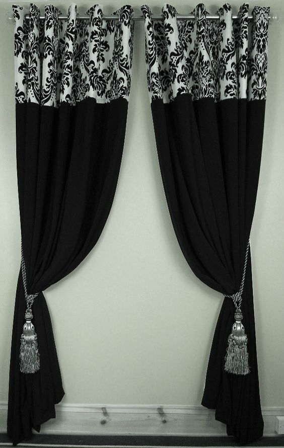 Damasks Window And Black White On Pinterest