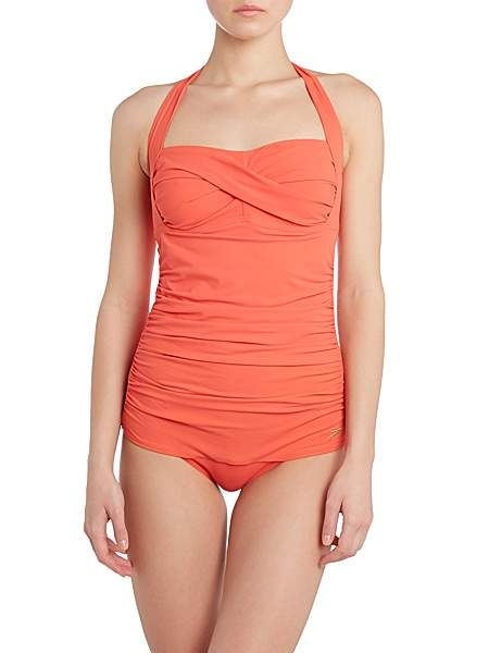 Crystal sun plain swimsuit