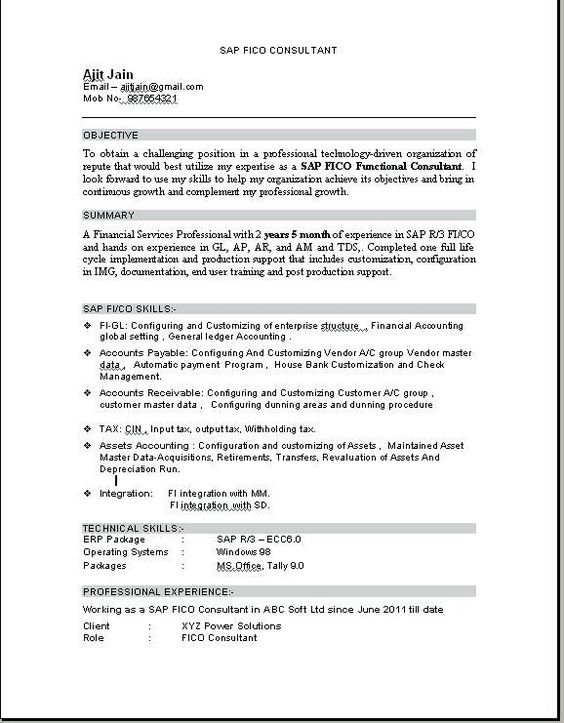 Resume Format For Tally Erp 9 Resume Format Download Resume Education Resume Resume Format
