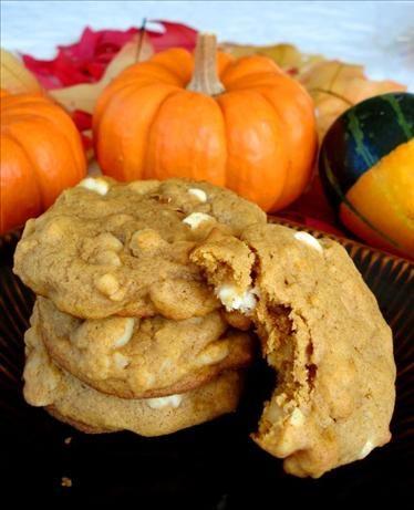 Pumpkin Macadamia White Chip Cookies