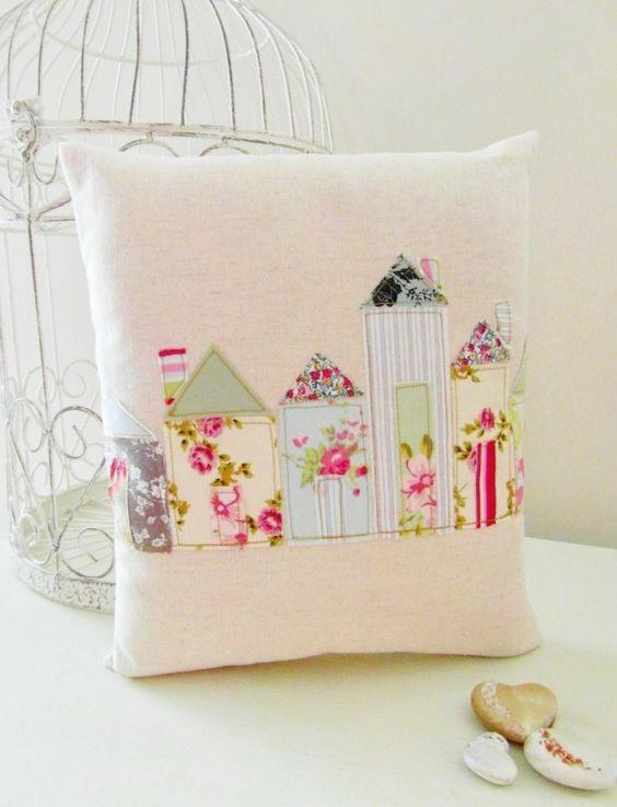Shabby Chic Street Cushion by Random Button Pillows... Pinterest Shabby chic, House and ...